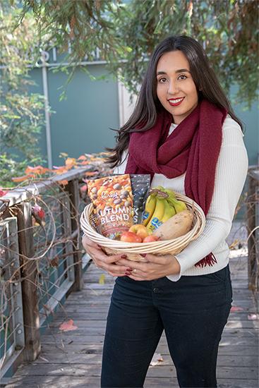 Brenda Garcia holding basket