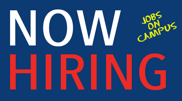 on-campus jobs now hiring